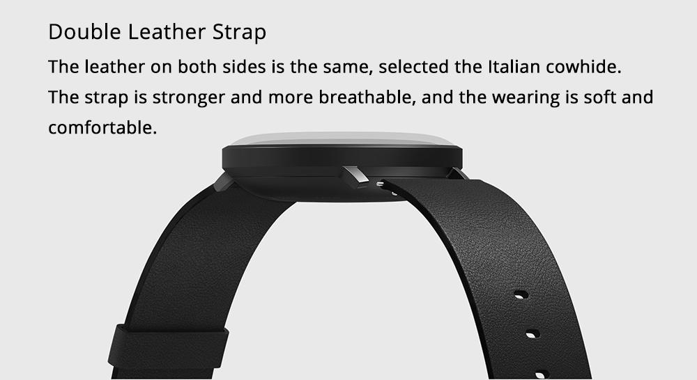 Xiaomi Mijia Quartz Smartwatch 3ATM Water Resistant Pedometer Stainless Steel Case Intelligent Vibration - White