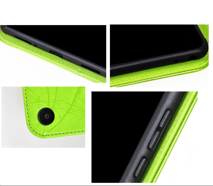 Protective Leather Case with Printing Cover Kickstand Armband Function for Xiaomi Mi Pad 4 8 Inches Tablet PC - Black