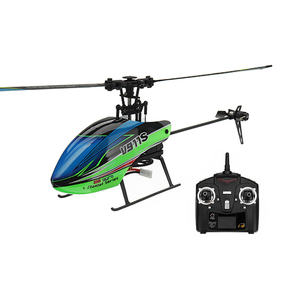 WLtoys V911S 2.4G 4CH 6Aixs Gyro Single Blade Flybarless RC Mini Helicopter RTF