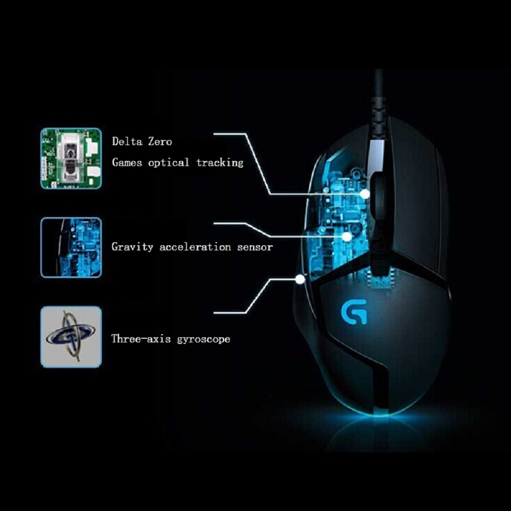 Logitech G402 Hyperion Fury FPS Gaming Mouse with 8 Programmable Buttons