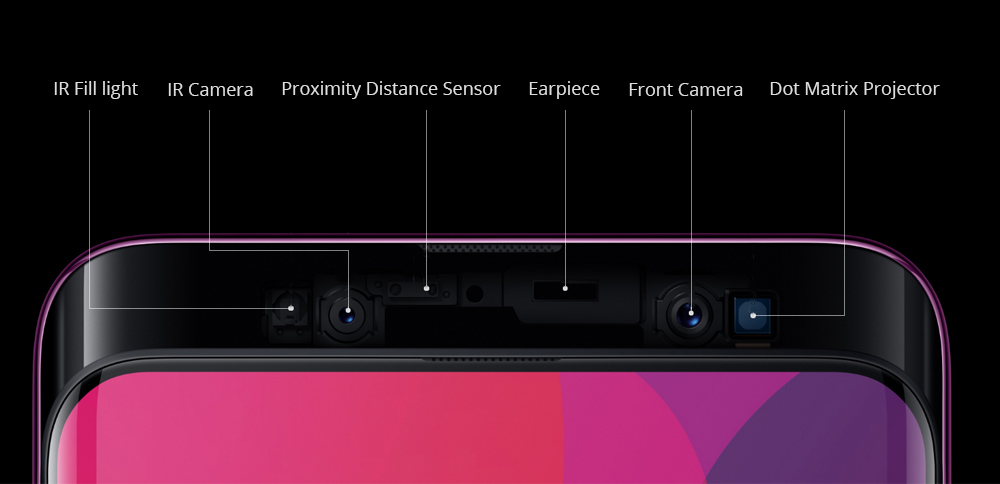 OPPO Find X 6.42 Inch 4G LTE Smartphone Snapdragon 845 8GB 128GB 20.0MP+16.0MP Dual Rear Cameras Android 8.1 Face ID OTG Type-C FHD Screen - Blue