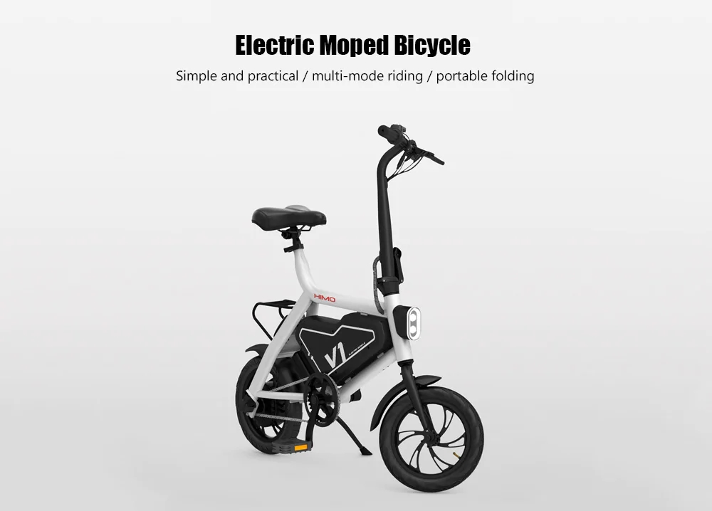 Xiaomi HIMO Portable Folding Electric Moped Bicycle Ergonomic Design Multi-mode Riding - White