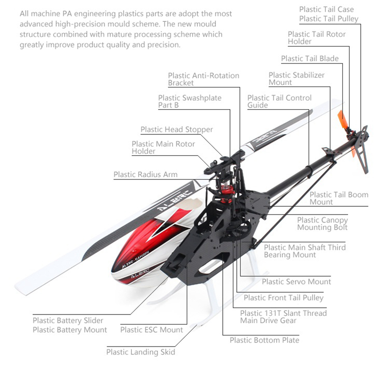 ALZRC Devil X360 FAST FBL 370mm Blade RC Helicopter With Brushless Motor 50A V4 ESC Gyro System Servo - Super Combo B