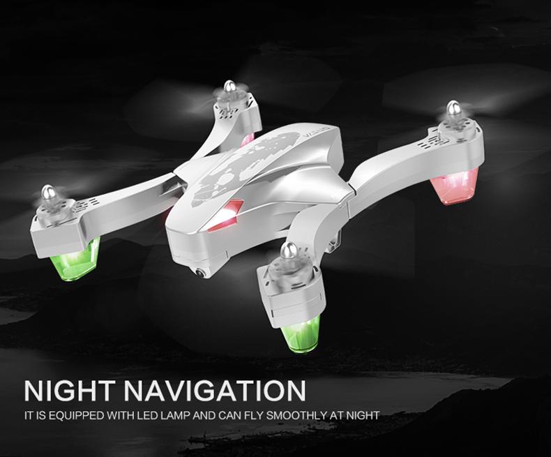 VISUO XS811 GPS 5G WiFi FPV Foldable RC Drone with Adjustable 720P HD Camera Follow Me Mode RTF - White