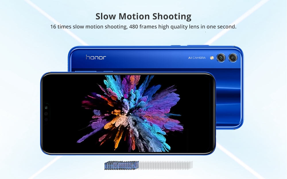 HUAWEI Honor 8X 6.5 Inch FHD+ Full Screen 4G LTE Smartphone Kirin 710 6GB 64GB Dual 20MP Rear Cameras Android 8.1 Touch ID - Blue