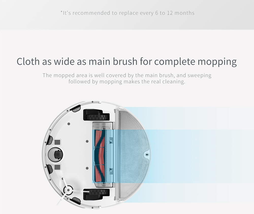 [Spagna Stock] Originale Xiaomi Aspirapolvere robotico Copri-spazzola per aspirapolvere robot Xiaomi / Aspirapolvere robot Xiaomi 2