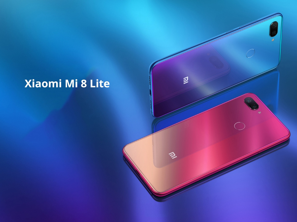 Xiaomi Mi 8 Lite 6.26 Inch 4G LTE Smartphone Snapdragon 660 4GB 64GB 12.0MP+5.0MP Dual Rear Cameras MIUI 9 Touch ID Type-C Fast Charge English and Chinese Version - Deep Space Gray