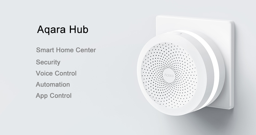 Xiaomi Aqara Wireless WiFi Zigbee Smart Gateway (Compatible with Homekit, Voice Control with Siri) - White