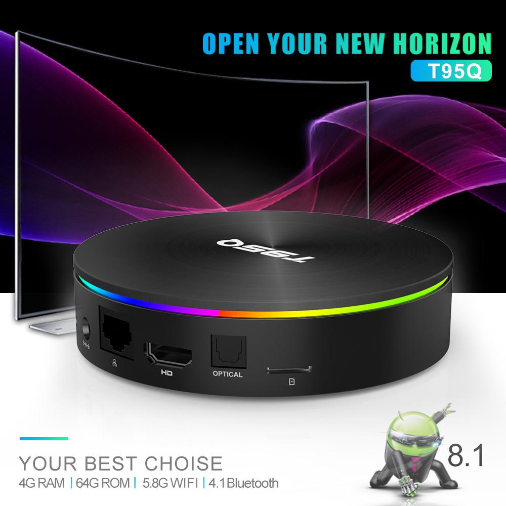 T95Q Android 9.0 TV Box Amlogic S905X2 Quad Core 4GB DDR4 64GB EMMC BT4.1 F L2K9