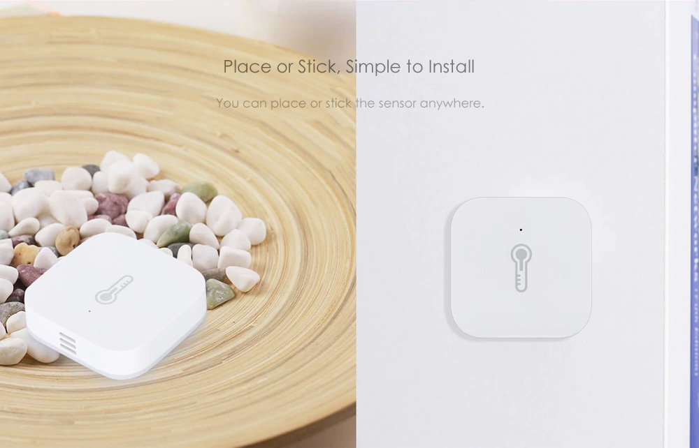 Xiaomi Aqara Temperature Humidity Sensor (Works with Other Aqara Smart Home Devices) - White