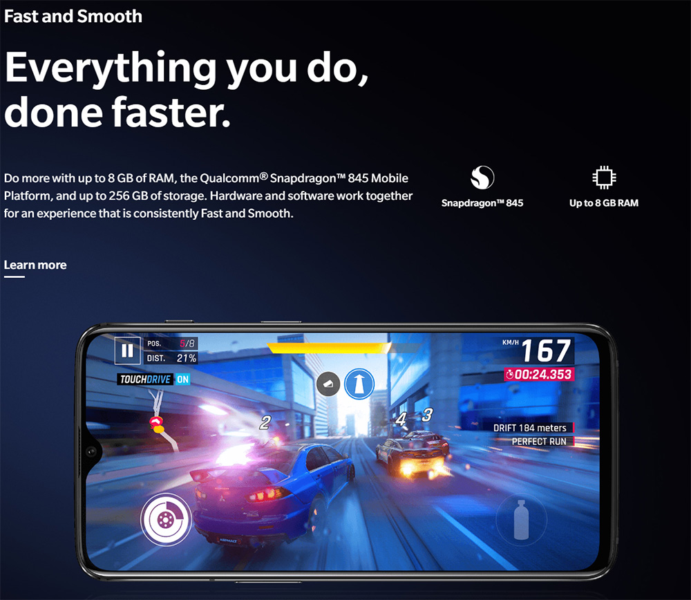 [Official Global ROM]Oneplus 6T 6.41 Inch 4G LTE Smartphone Snapdragon 845 8GB 128GB 16.0MP+20.0MP Dual Rear Cameras Android 9.0 In-Display Fingerprint NFC Fast Charge - Midnight Black