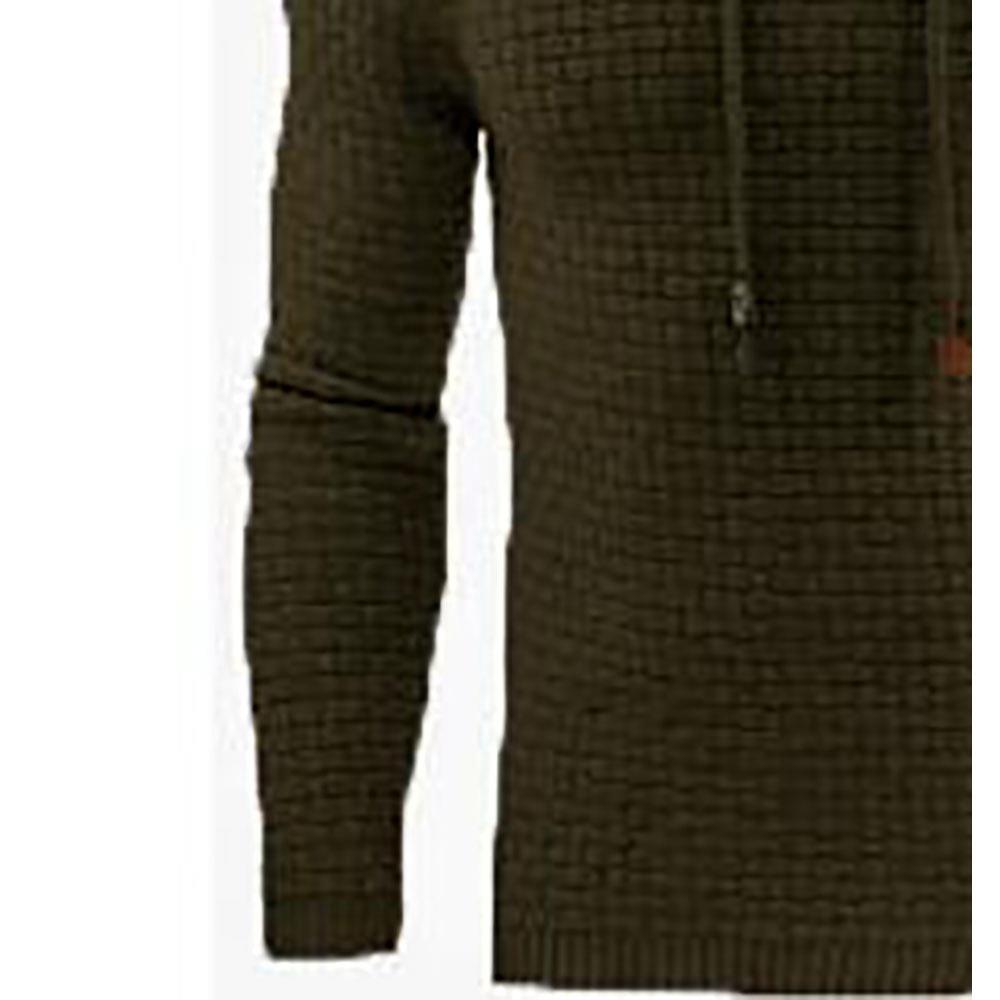 Herren, Basic, Winter warmer, langärmliger Grid Hoodie (Sweatshirt Outwear Sweater, Größe 39XL) Army Green