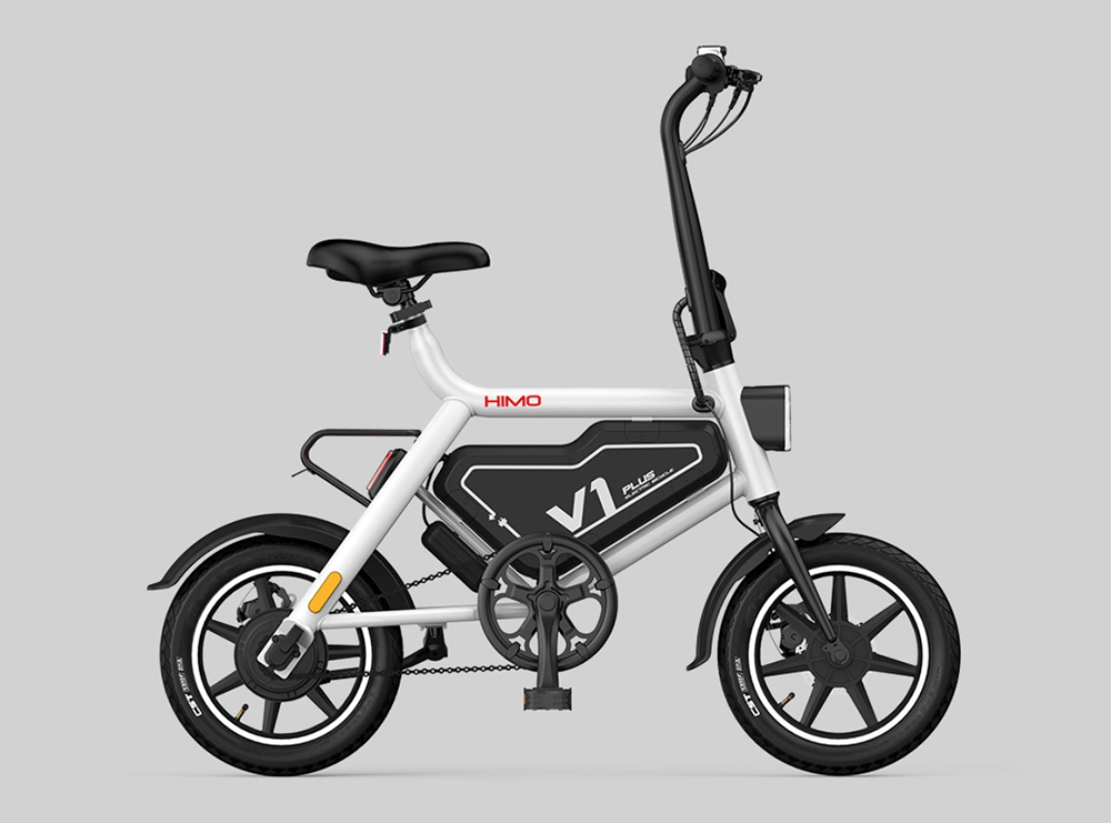 Xiaomi HIMO V1 Plus Portable Folding Electric Moped Bicycle 250W Motor 14 Inch Wheel Diameter Lightweight Design - Gray