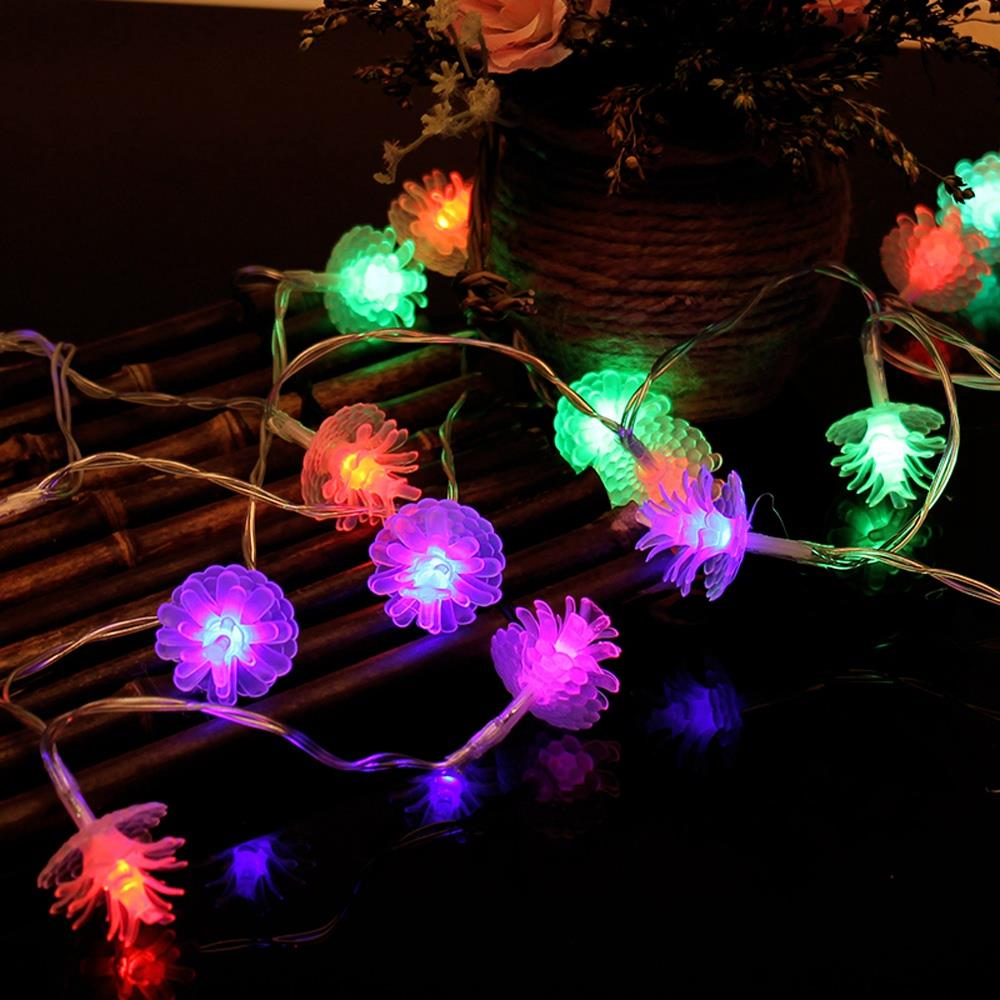 2.2M 20 PCS LED CHRISTMAS GARDEN PARTY DECOR STRING PINE CONE LIGHTS LAMP SMART