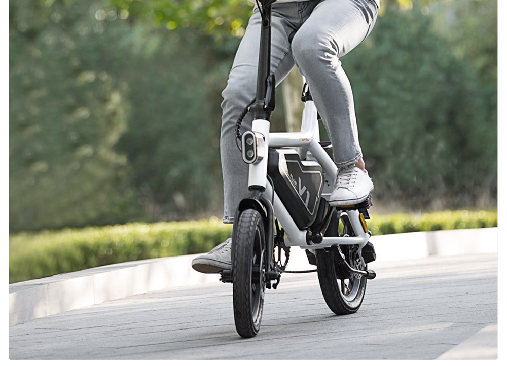 Xiaomi HIMO V1 Plus Portable Folding Electric Moped Bicycle 250W Motor 14 Inch Wheel Diameter Lightweight Design - White