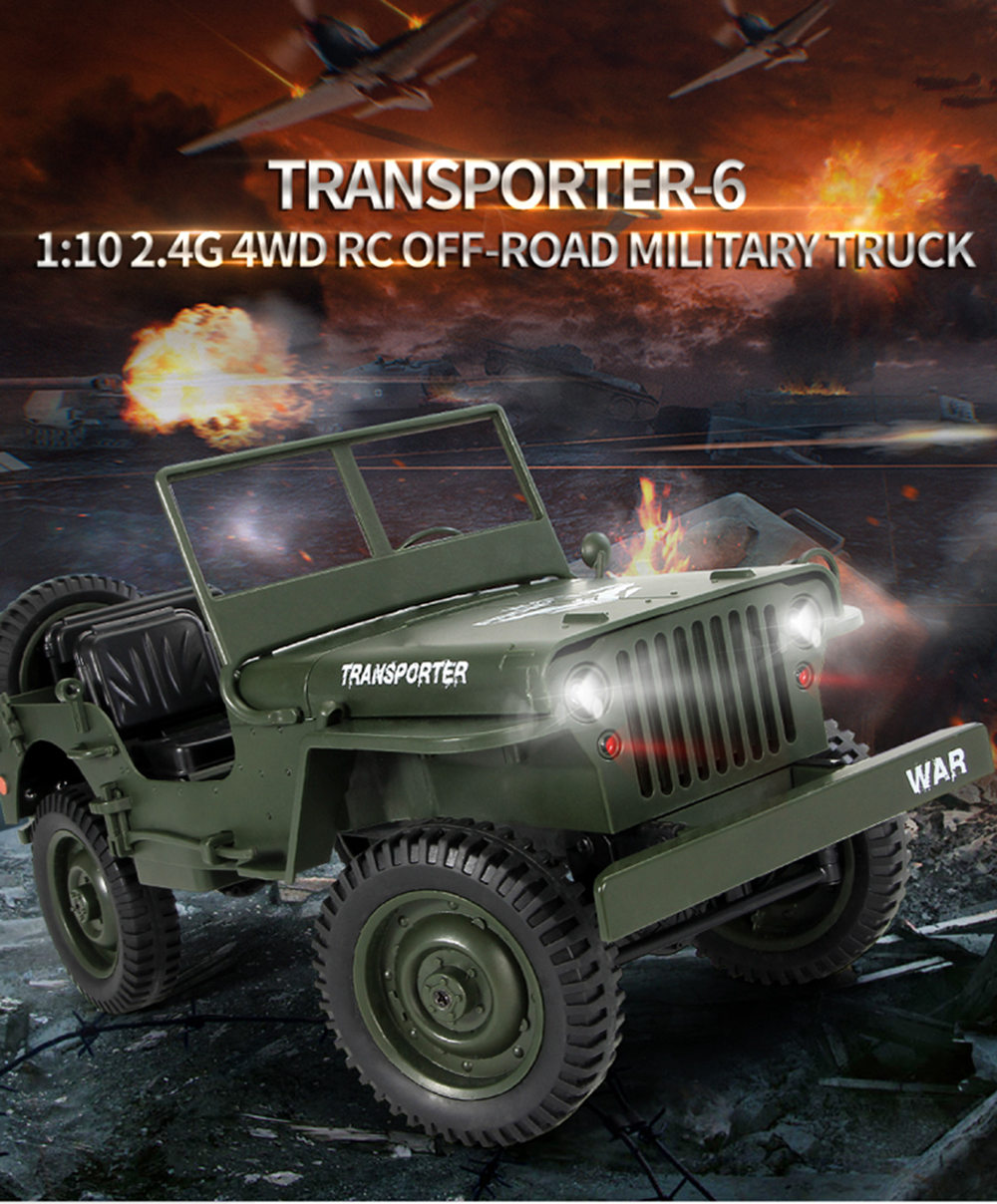 Jjrc Q65 Transporter 6 2 4g 1 10 Rc Car Rtr Navy Blue