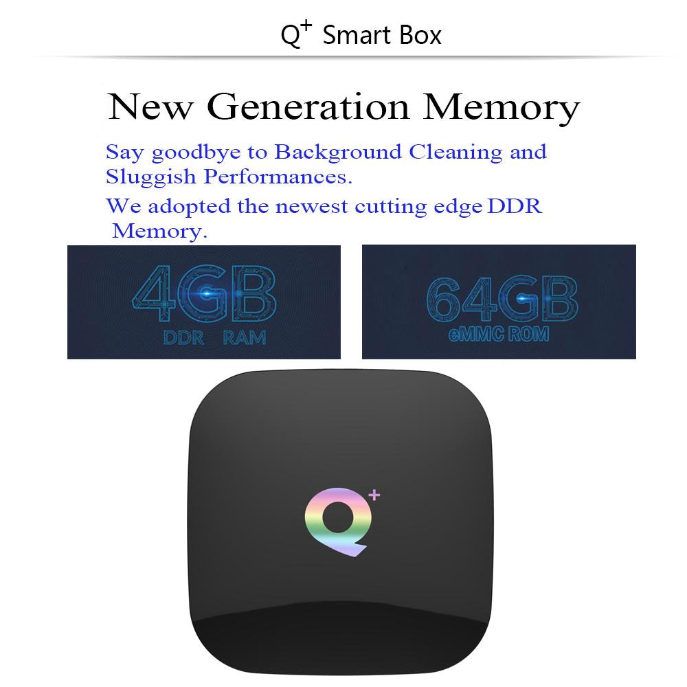 Newest Q Plus Android 8.1 TV BOX 4GB+64GB H6 Quad Core 6K HD Media Player