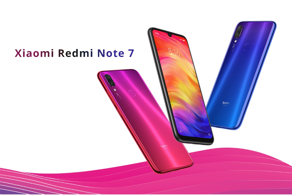 Xiaomi Redmi Note 7 6.3 Inch 4G LTE Smartphone Snapdragon 660 4GB 64GB 48.0MP+5.0MP Dual AI Cameras MIUI 9 Type-C Quick Charge IR Remote Control - Black