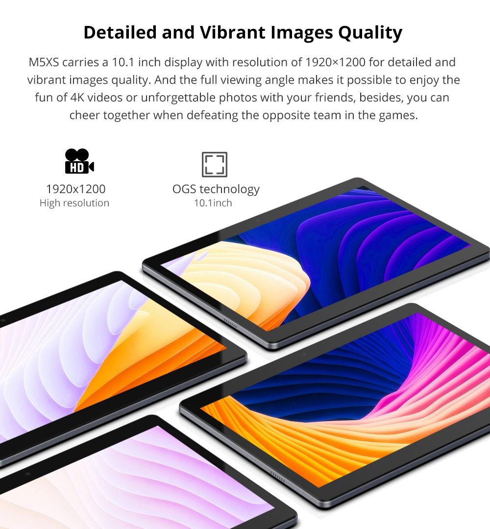 ALLDOCUBE Cube M5 XS 4G LTE Phablet X27 MTK6797X Deca Core 10.1 Inch IPS 1920*1200 Android 8.0 3GB RAM 32GB ROM Built-in GPS Dual SIM - Gray