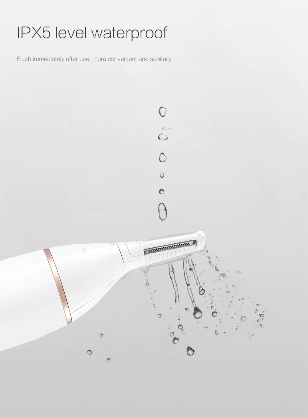 Xiaomi SOOCAS N1 Nose Ears Sideburns Trimmer Dual-Sided Vertical Trimmer Water Resistant - White