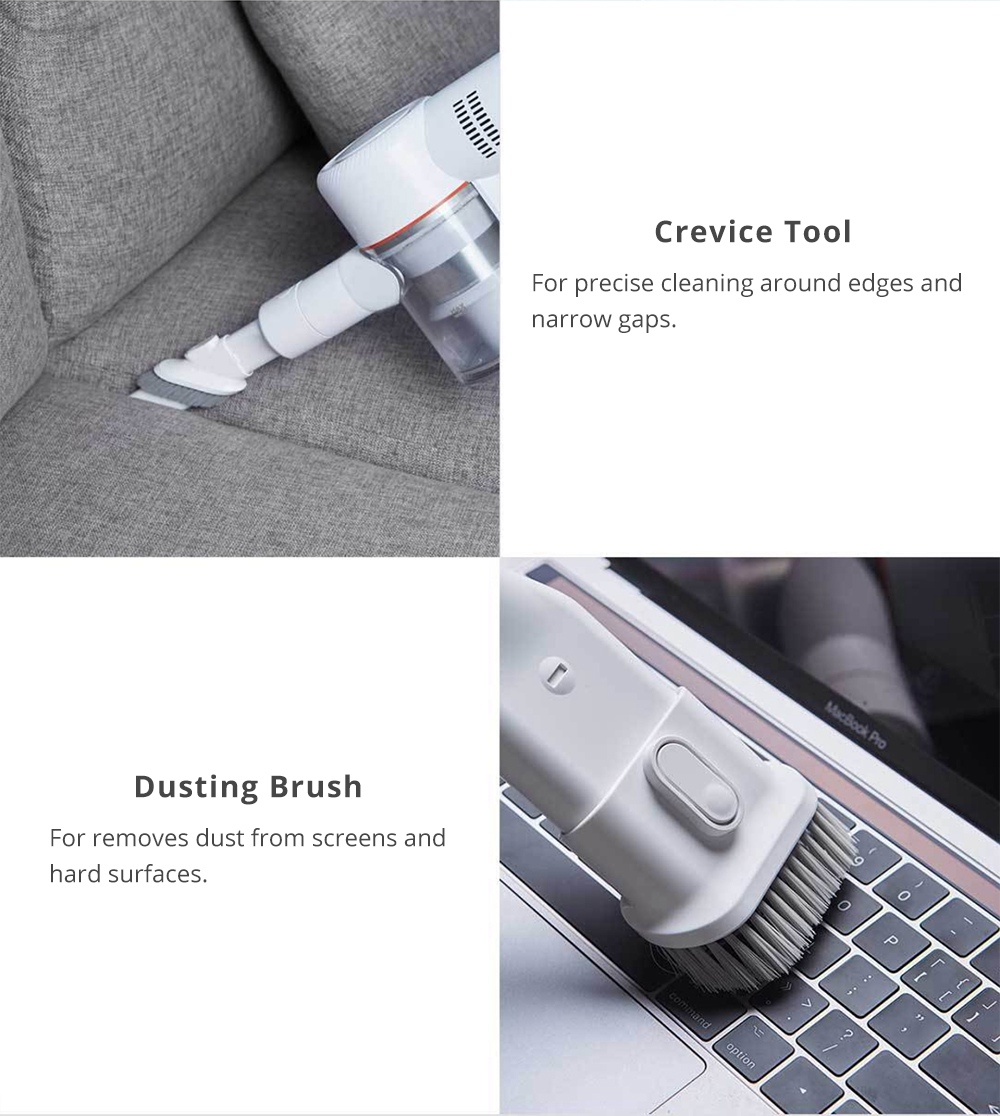 Xiaomi Dreame V9 Cordless Stick Vacuum Cleaner 20000 Pa Suction Anti-winding Hair Mite Cleaning 60 Minutes Run Time - White