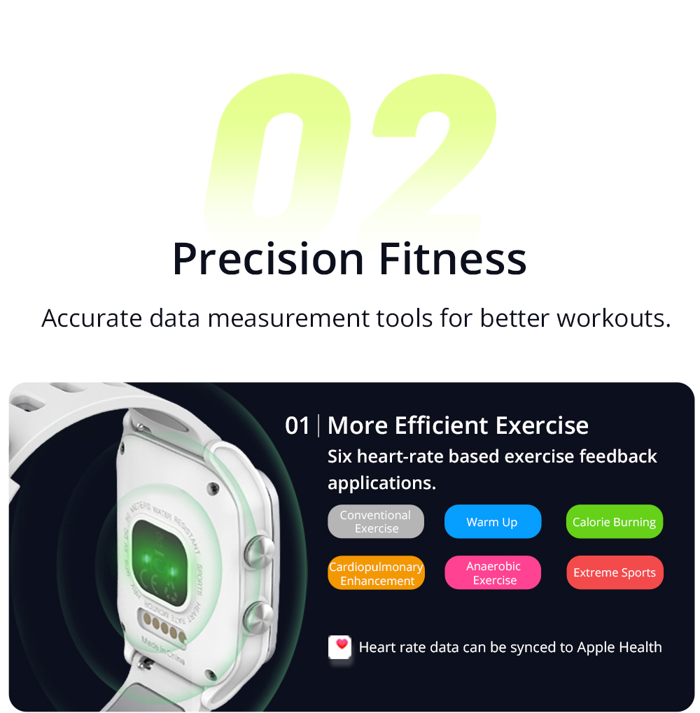 Makibes BR3 Smart Watch Support Strava 1.3 Inch IPS Color Touchscreen Built-in GPS Multi-sports Modes Heart Rate Monitor IP68 Waterproof Fitness Tracker - Gray