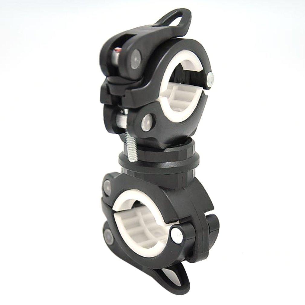 360 Degree Rotation Cycling Bike Flashlight Handlebar Holder Clamp Clip US