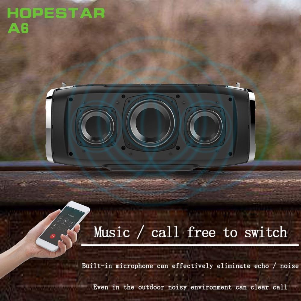 HOPESTAR A6 Bezdrôtový reproduktor Bluetooth 34W IPX6 vode odolný Power Bank - čierny