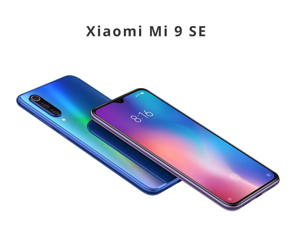 Xiaomi Mi 9 SE 5.97 Inch 4G LTE Smartphone Snapdragon 712 6GB 128GB 48.0MP+8.0MP+13.0MP Triple Rear Cameras MIUI 10 In-display Fingerprint NFC Fast Charge - Blue