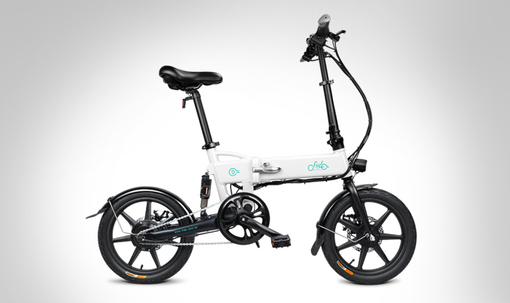 FIIDO D2 Folding Electric Moped Bike Three Riding Modes 16 Inch Tires 250W Motor 25km/h 7.8Ah Lithium Battery 20-35KM Range - Black