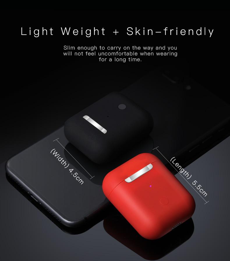 Écouteurs i12 TWS Bluetooth 5.0 Tap Control Stéréo Sound Edition Standard - Rouge