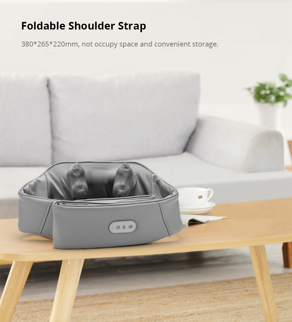 Xiaomi LERAVAN 3D Kneading Neck Shoulder Massager Customized Intensity PTC Heating Fast Charging Pinching Massage Shawl - Grey