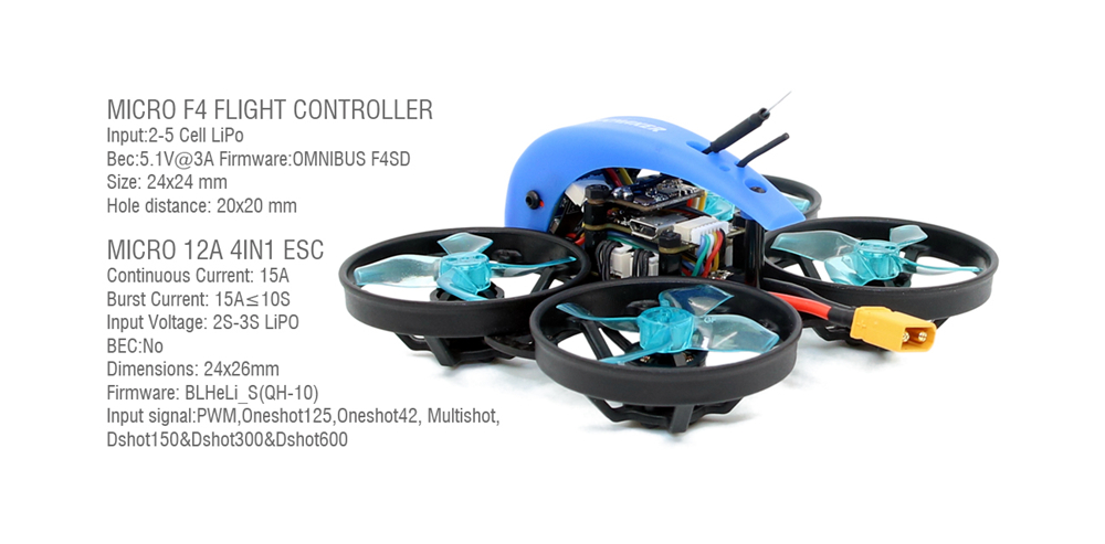 SPCMAKER MINI Whale HD 78mm 2-3S Brushless Whoop Racing Drone PNP - Without Receiver