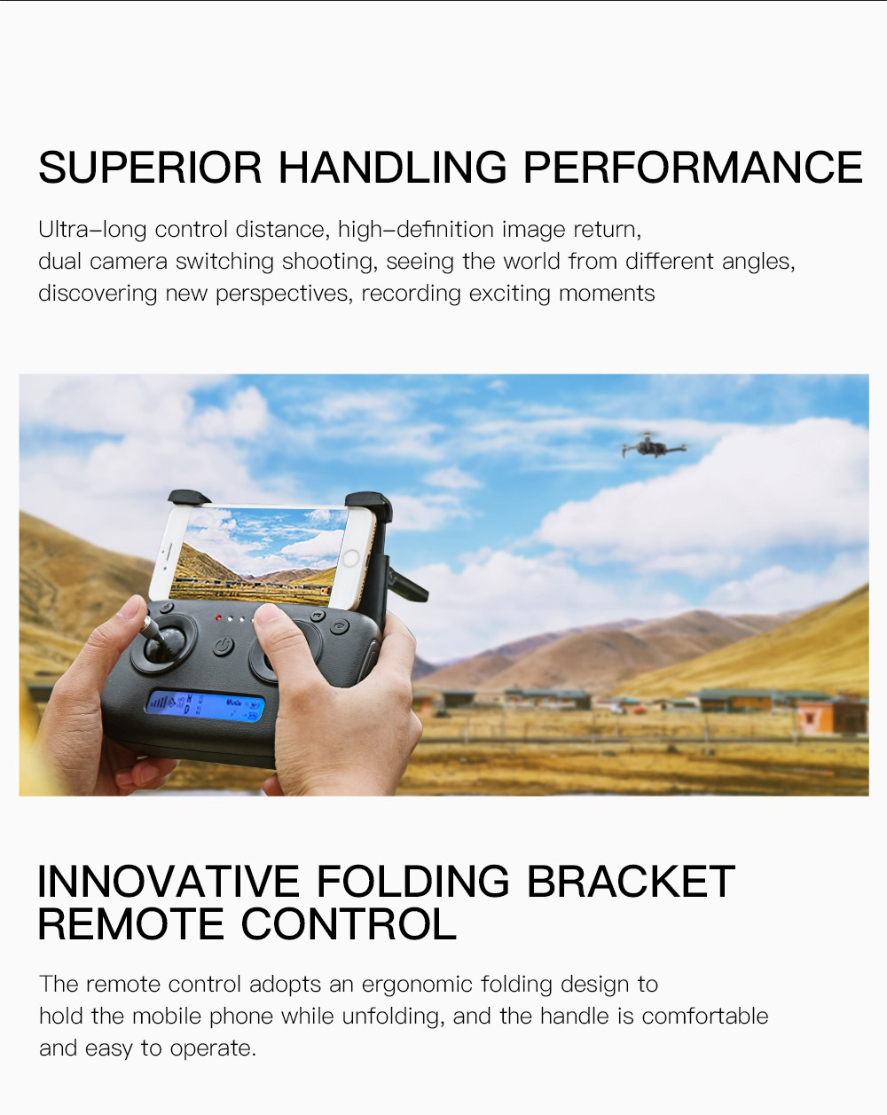ZLRC SG906 Beast 1080P 5G WiFi FPV Foldable RC Drone Dual GPS Optical Flow Positioning RTF - Black