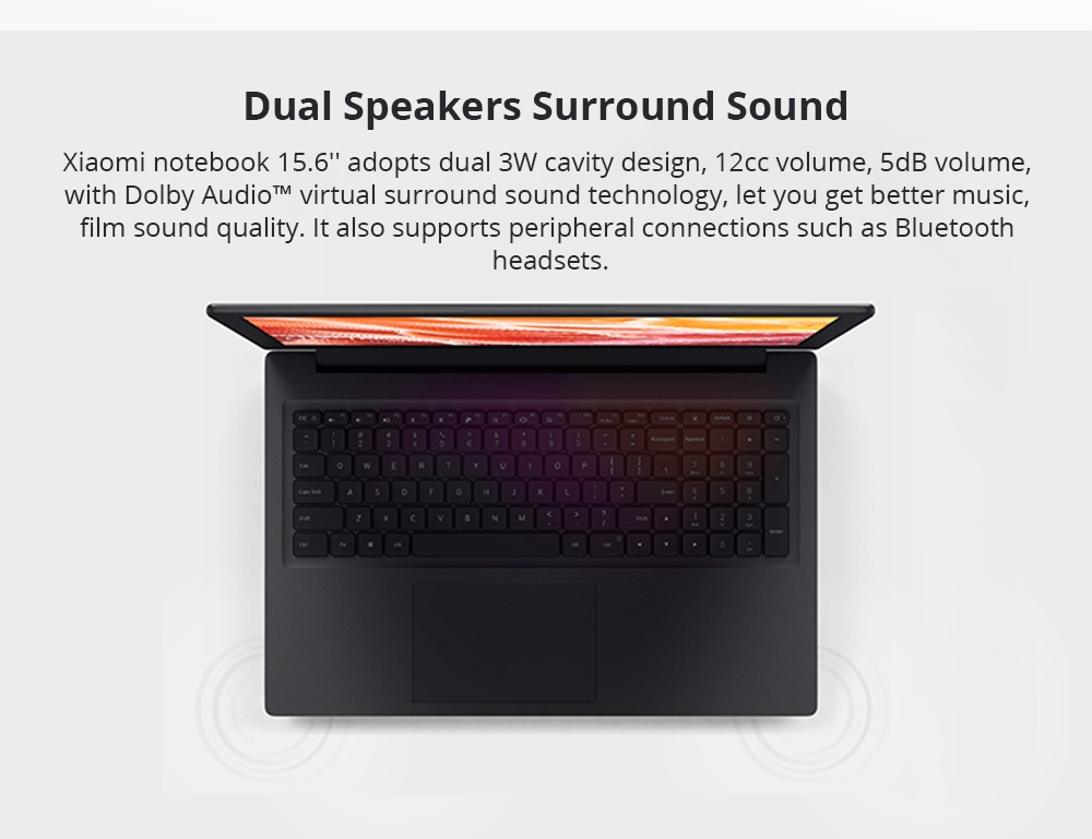 "Xiaomi Mi Notebook Pro Intel Core i5-8250U Quad Core 15.6"" 1920*1080 8GB DDR4 512GB SSD NVIDIA GeForce MX110 2019 New Version - Dark Grey"