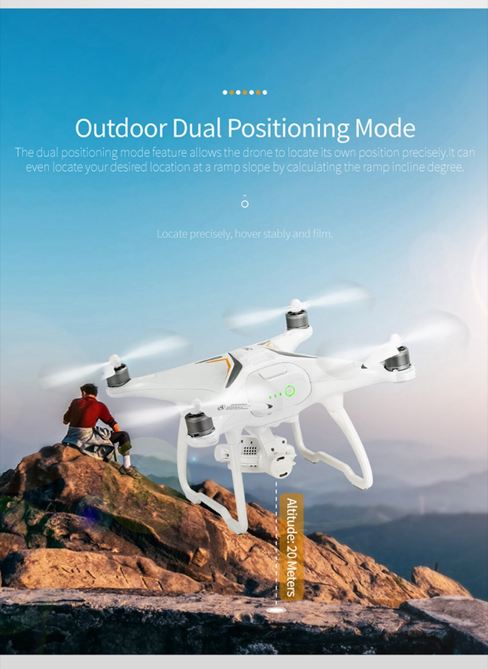 JJRC X6 Aircus 5G WIFI Dual GPS RC Drone With 1080P 2-Axis Self-stabilizing Gimbal Follow Me Mode RTF - Two Batteries