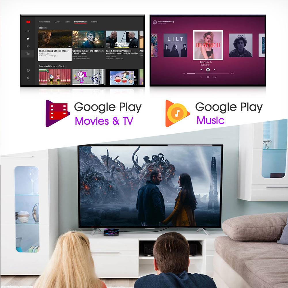 H96 MAX RK3318 Android 9.0K 4GB / 32GB 4K TV Box