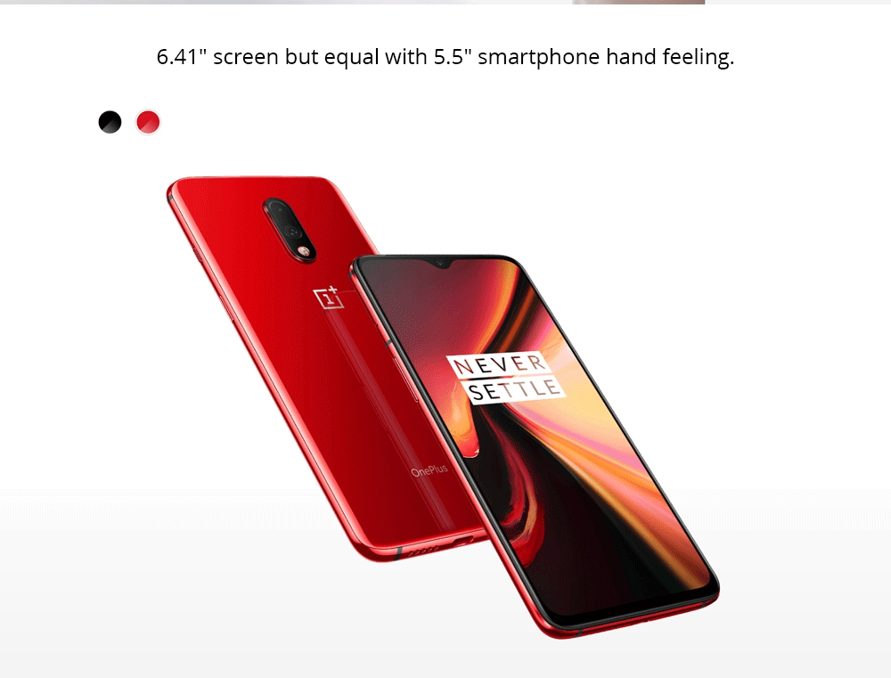 Oneplus 7 6.41 Inch 4G LTE Smartphone Snapdragon 855 8GB 256GB 48.0MP + 5.0MP Dual Rear Cameras Android 9 In-display Fingerprint NFC Fast Charge Global ROM - Gray