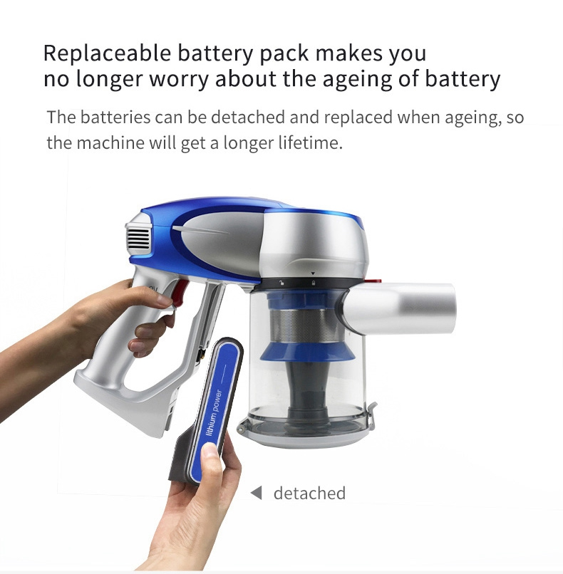 Xiaomi JIMMY JV83 Handheld Wireless Vacuum Cleaner 135AW Suction 60 Min Run Time Anti-winding Hair - Blue