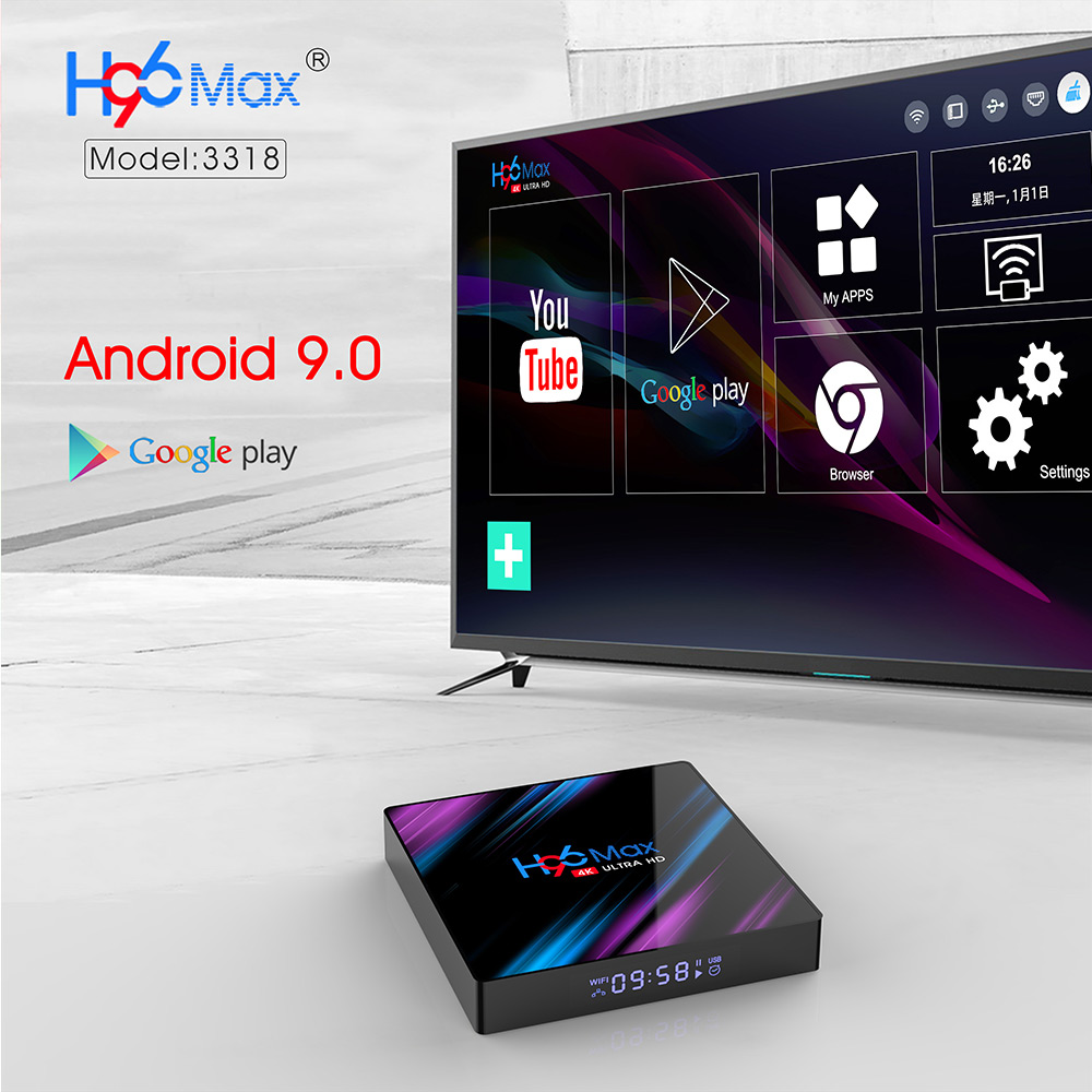 H96 MAX RK3318 Android 9.0 4GB/32GB 4K TV Box