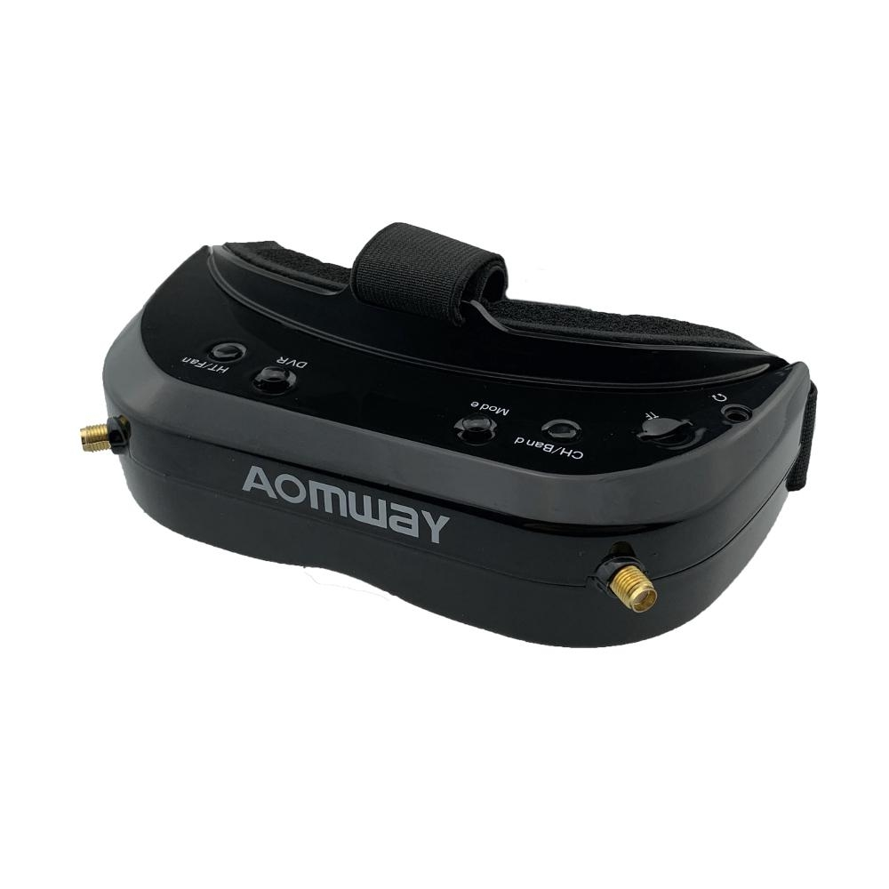 Aomway Commander V1S 854x480 5.8Ghz 64CH Diversity FPV Goggles RF 2D/3D HDMI Built-in DVR Fan Support Head Tracking