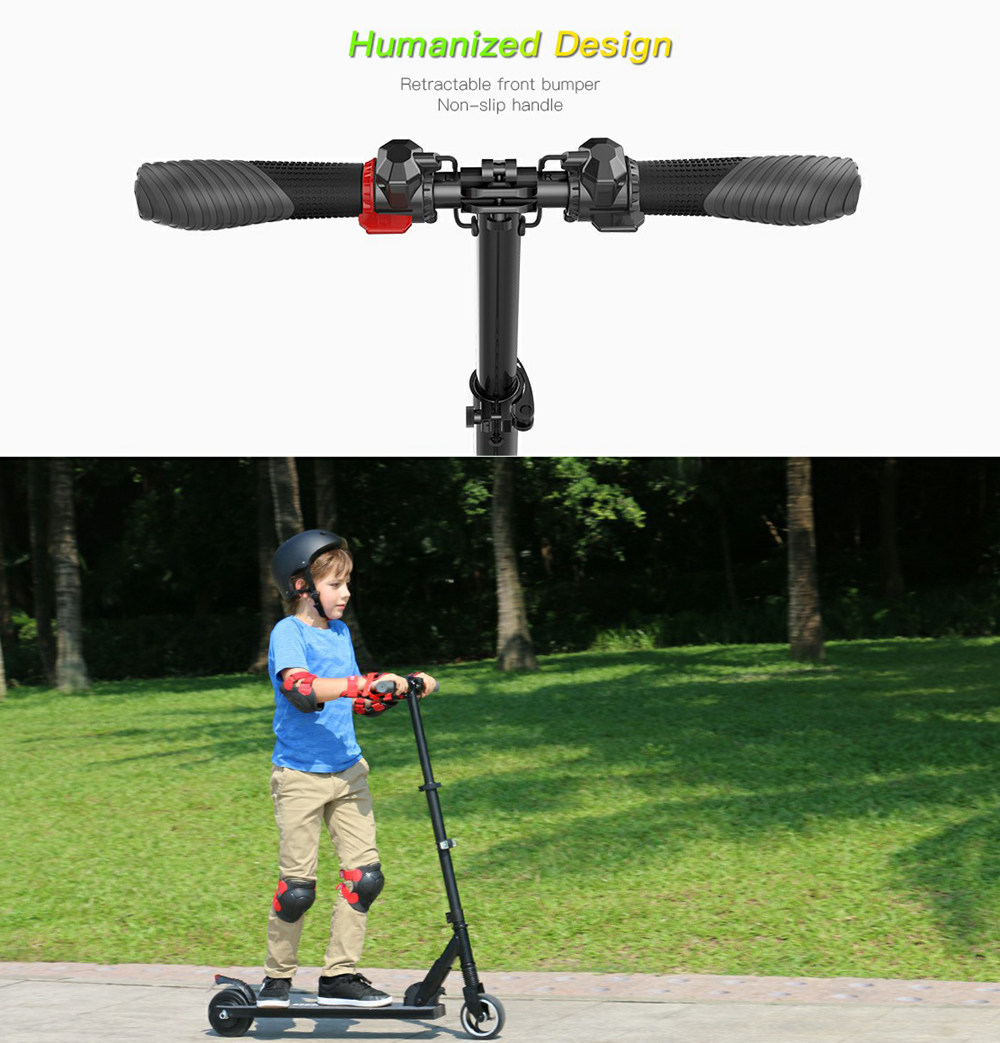 Megawheels S3-1 Portable Folding Electric Scooter 250W Motor Max Speed 23km/h 5.0Ah Battery - Black