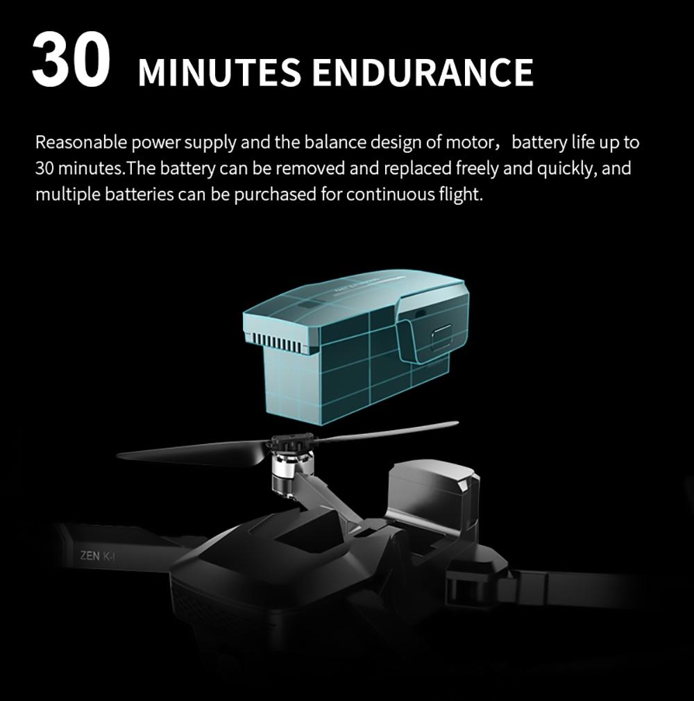 VISUO ZEN K1 4K 5G WIFI FPV GPS Складной пульт дистанционного управления с двумя камерами 50X Zoom 30mins Время полета - три батареи