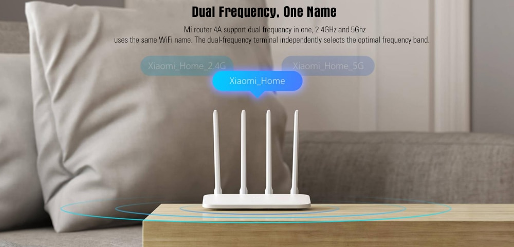 Xiaomi Mi 4A Wireless Dual Band Router Gigabit Version 2.4GHz + 5GHz WiFi High Gain 4 Antenna - White