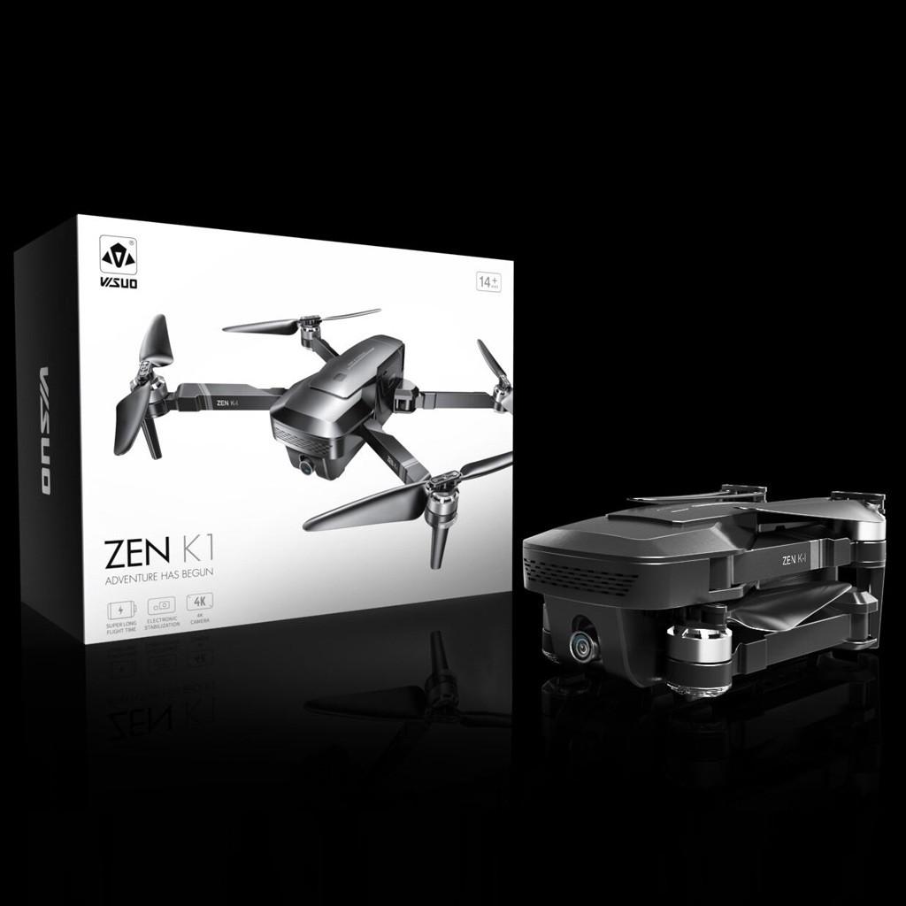 VISUO ZEN K1 4K UHD 5G WIFI FPV GPS Складной пульт дистанционного управления с двумя камерами 50X Zoom 30mins Время полета - два аккумулятора с сумкой