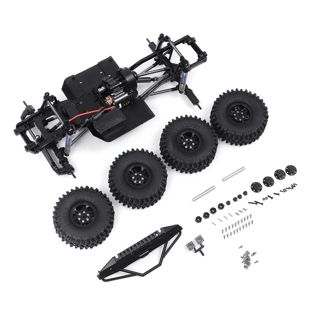 Upgrade Parts Metal Frame Chassis For SCX10 II 1/10 Rock Crawler Climbing RC Car Vehicle Models Parts With 540 Motor