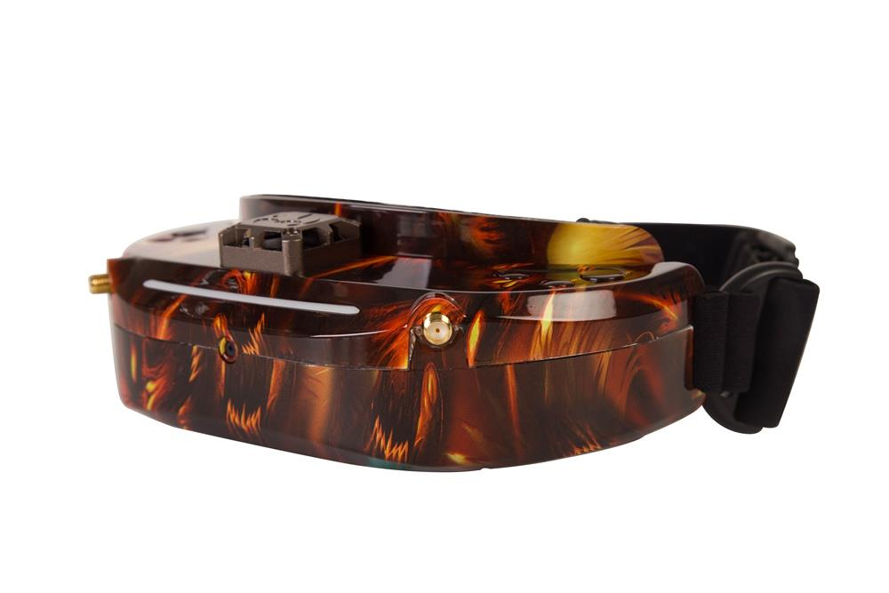 Skyzone SKY03O OLED Display 1024 X 768 5.8G 48CH Diversity FPV Video Goggles With FAN HDMI Head Tracking - Amber