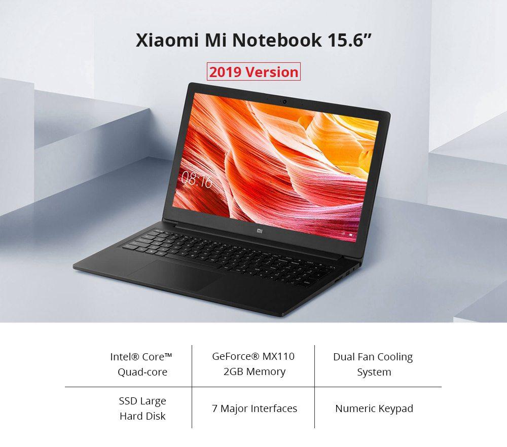"Xiaomi Mi Notebook Intel Core i5-8250U Quad Core 15.6"" 72% FHD Screen 1920*1080 8GB DDR4 128GB SATA SSD+1TB HDD Windows 10 Home - Grey"