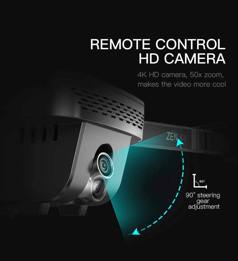 VISUO ZEN K1 4K UHD 5G WIFI FPV GPS Складной RC Drone с двумя камерами Переключаемое 50X Zoom 30mins Время полета - Две батареи с сумкой