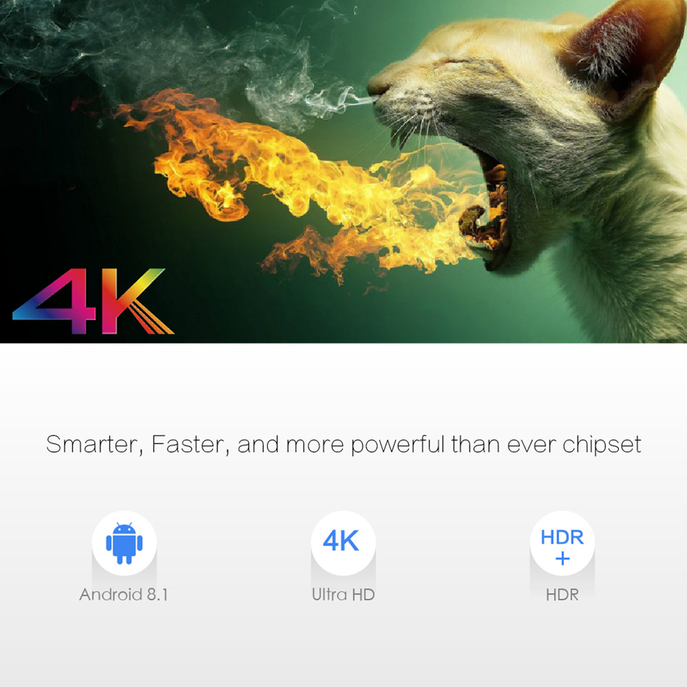 X96 MAX Amlogic S905X2 Android 8.1 KODI 18.0 4GB/32GB 4K TV Box with LED Display Dual Band WiFi Bluetooth Gigabit LAN USB3.0